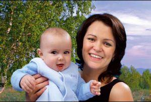 Лариса Липинская с сыном Елисеем